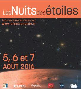Affiche officielle de la Nuit des étoiles 2016